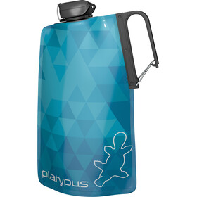 Platypus DuoLock SoftBot Bottle 1000ml Blue Prisms